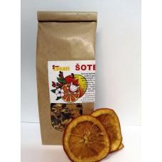 Šotek, ovocno-bylinný čaj se šípky a pomeranči kandovanými v 9 bylinkách